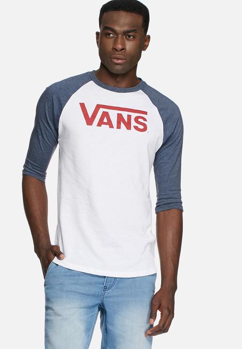 195f594847 Vans classic raglan - white Vans T-Shirts   Vests