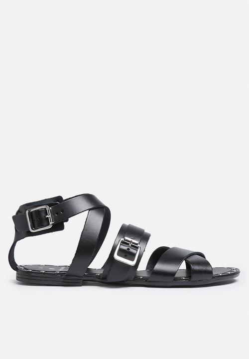 4d014846230b6 Jamie leather sandal- black Pieces Sandals   Flip Flops ...