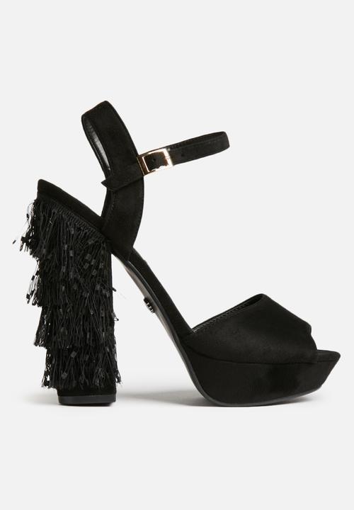 16fd781af16b Carin tassel platform heels - black Daisy Street Heels