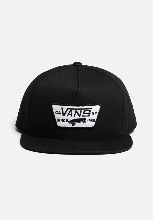 6b131de4f7a Full patch snapback - black Vans Headwear