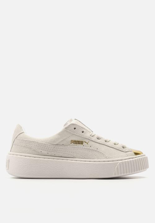 Puma Suede Platform - 362222 01 - Gold   Star White PUMA Sneakers ... d7c0c7c77a0