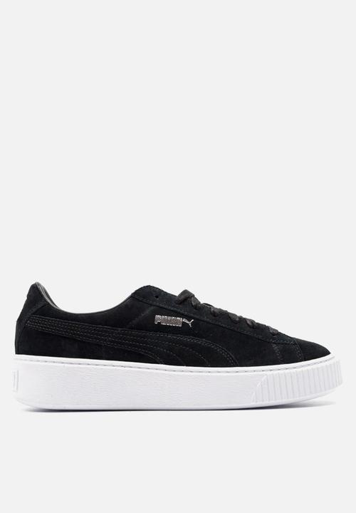 On Feet Images Of Puma Suede Platforms Core - 362223 01 - Black White PUMA  Sneakers ... 1dbc87e9b037