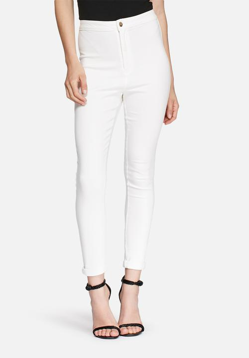 Missguided Vice Waisted Skinny High Jeans White UzMVpGqSL