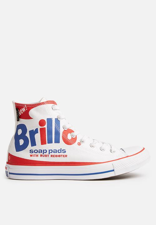 00fee814d16c Converse CTAS Brillo Pack HI Warhol - White   Red   Blue Converse ...