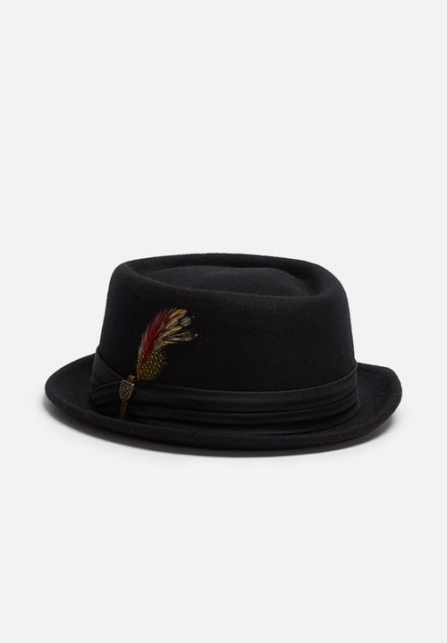 15a7cf62bfb Stout pork pie - black Brixton Headwear