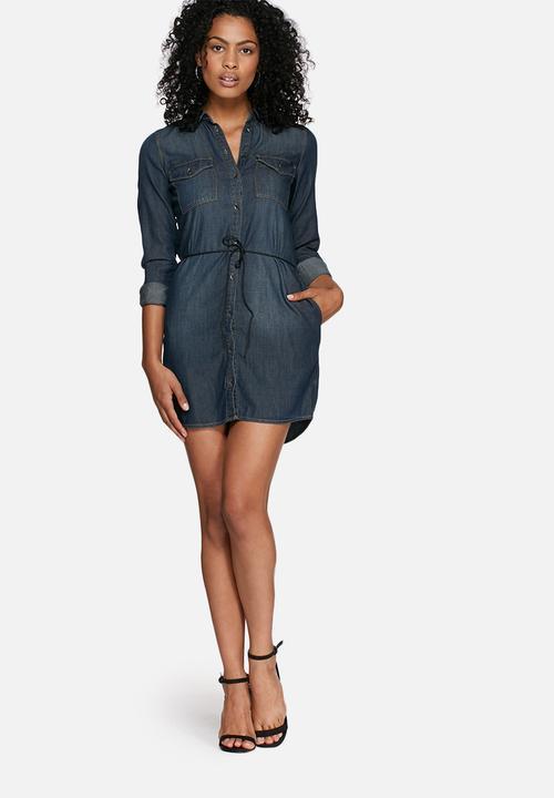 5db0050a6b Henna dress - noos dark blue denim ONLY Casual