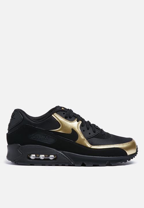 b965732d605 Nike Air Max 90 ESS - 537384-058 - Black   Black   Mtlc gold Nike ...