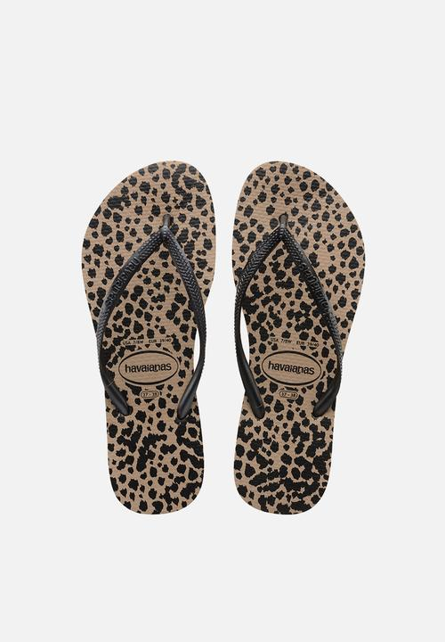 0fccefb8551 Women s Slim Animals - rose gold   black Havaianas Sandals   Flip ...