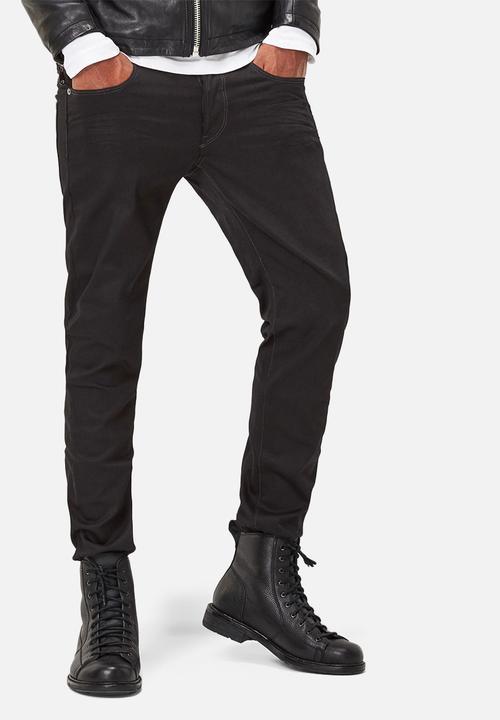 67fb3a943cc 3301 Slim - Raw Black Edington Stretch Denim G-Star RAW Jeans ...