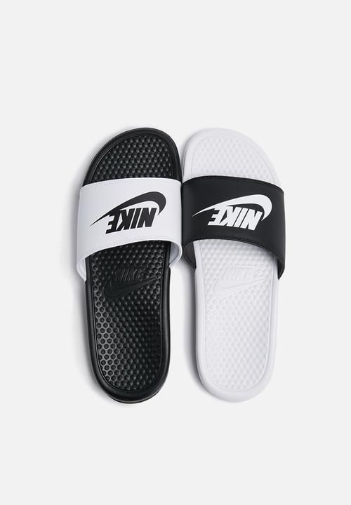 665039b45f837 Nike Benassi JDI Mismatch - Black   White Nike Sandals   Flip Flops ...