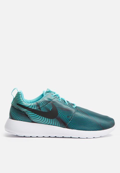ca66267acbbbe Nike W Roshe One Print - 844958-301 - Washed Teal   Green Glow Nike ...