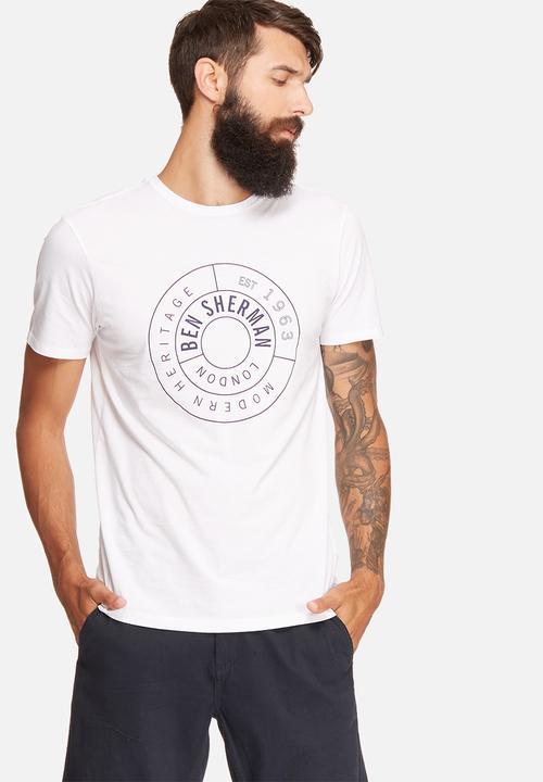393ca1a85 Modern target slim tee - bright white Ben Sherman T-Shirts & Vests ...