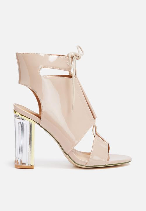 668e239beae Perspex block heel - nude Missguided Heels