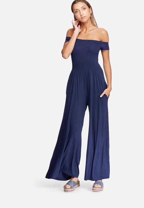 8eb835c4f71 Off shoulder jumpsuit - navy dailyfriday Jumpsuits   Playsuits ...