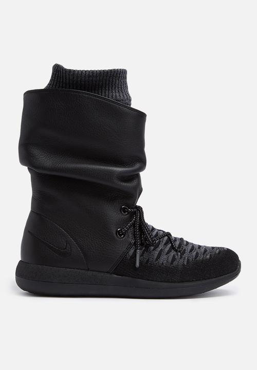 Nike W Roshe Two Hi Flyknit- 861708-001 - Black   Black - Dark Grey ... 9d8286bdd