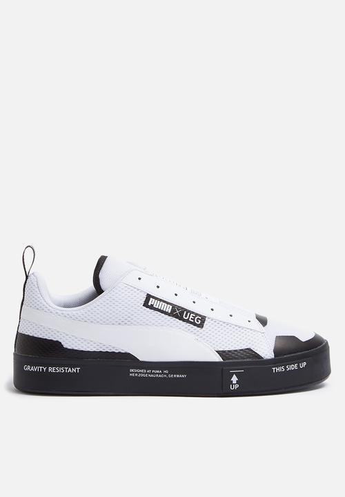 336611383d8d0a Puma SELECT Court Play SlipOn x UEG - 361637 02 - White   Black PUMA ...