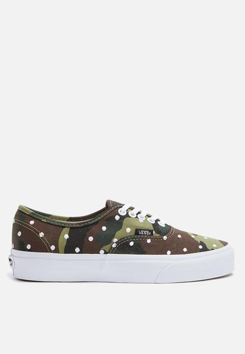 e44818f5a4 Vans Authentic - Camo Polka - Woodland   True White Vans Sneakers ...
