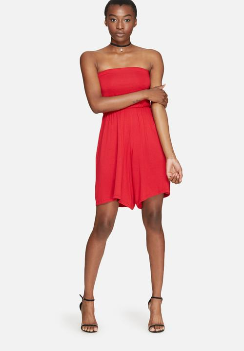 f021c1c3eb90 Boobtube playsuit - bright red dailyfriday Jumpsuits   Playsuits ...