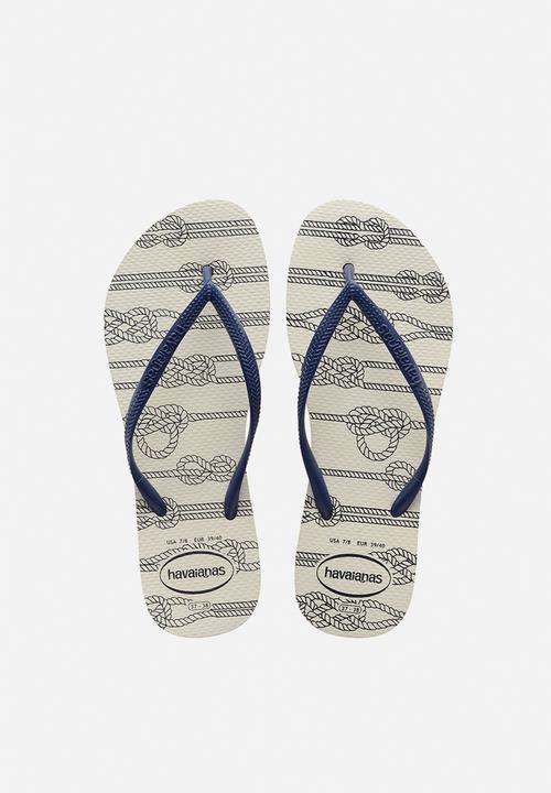 36502eb1cbc Slim nautical - white   navy Havaianas Sandals   Flip Flops ...