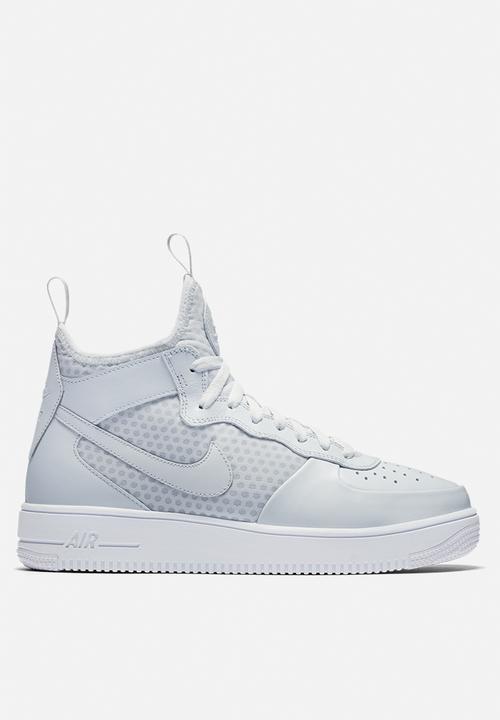 850413e5a Nike AF1 Ultraforce Mid - 864014-002 - Pure Platinum / White Nike ...