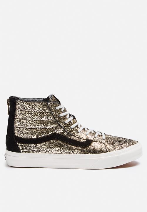 5daa137496 Vans SK8-Hi Slim - Gold Dots - Blanc Gold   De Blanc Vans Sneakers ...