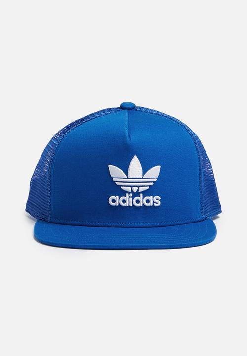 be0bca1d8c6 Trefoil trucker - blue adidas Originals Headwear
