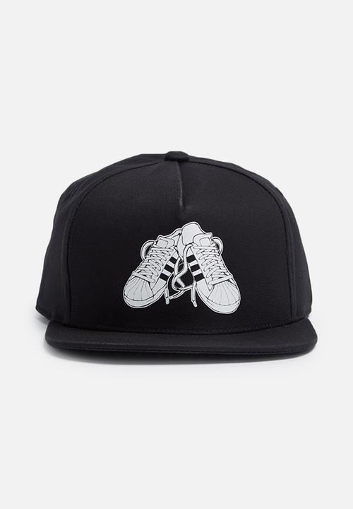 Superstar snapback cap - black adidas Originals Headwear ... 0e29cc017db
