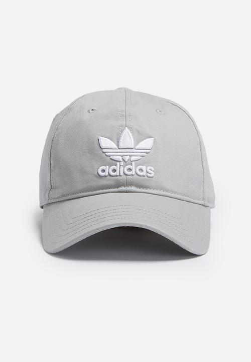 Trefoil adjustable cap - mgh solid grey adidas Originals Headwear ... 5a1739721c6