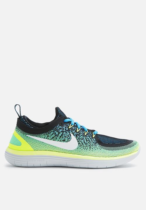 Impuro revolución dentro  Nike Free RN Distance 2 - 863775-402 - Chlrn Blue / White / Electric Green  / Black Nike Sneakers | Superbalist.com