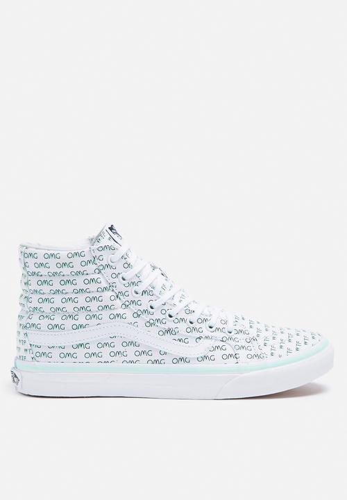 fa3c7f46850c Vans SK8-Hi Slim Valentine Sayings - True White Vans Sneakers ...