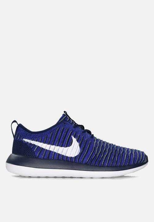 2597973b2104 Nike Roshe Two Flyknit - 844833-402 - College Navy   White ...