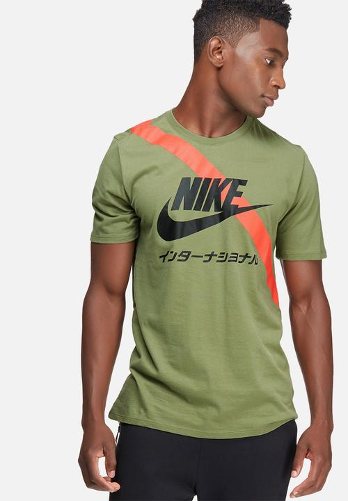 International tee - palm green  orange black Nike T-Shirts ... 25bed4a38f5f