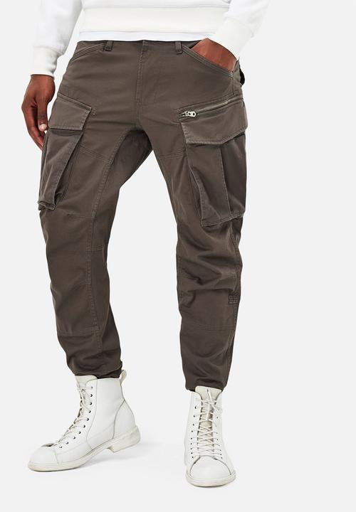 7e08301ecfd7 Rovic Zip 3D tapered - Gs grey G-Star RAW Pants   Chinos ...