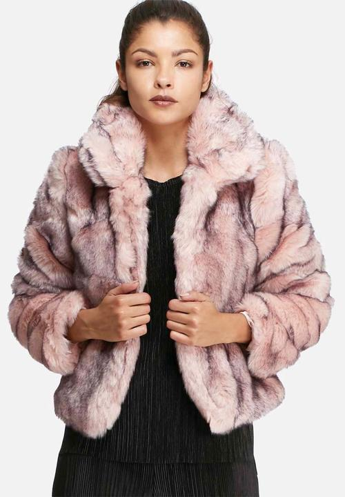 87c18130fce2 Short faux fur coat - pink & black Glamorous Jackets | Superbalist.com