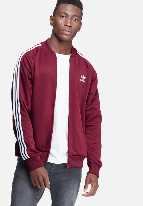 bc80051ce9d527 SST relax track jacket - collegiated burgundy adidas Originals ...