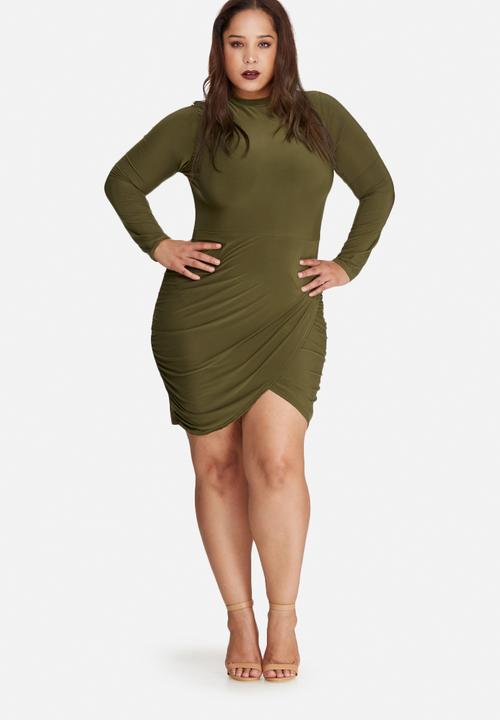 High Neck Plus Size Dresses
