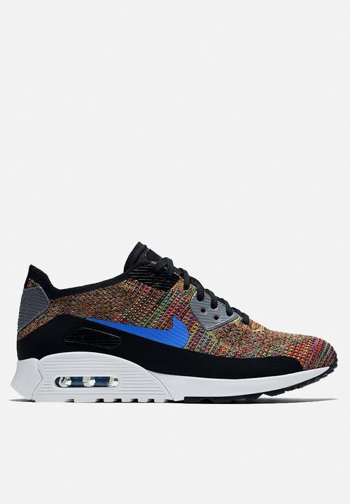 a0a3716b09 Nike W Air Max 90 Ultra 2.0 Flyknit - 881109-001 - Black / Mdm Blue ...