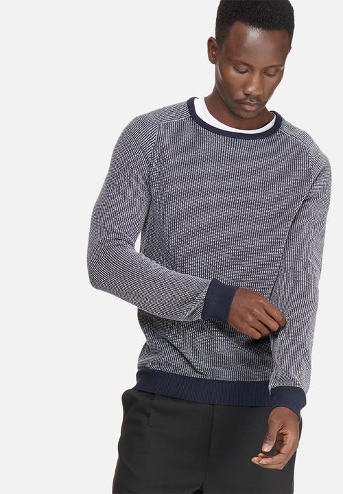 551f607425fa1e Jeppe crew neck - dark sapphire Selected Homme Knitwear ...