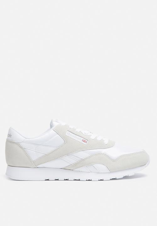 8b6d7f0608d Reebok Classic Nylon Foundation - 6390 - White Light Grey Reebok ...