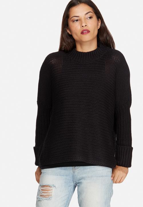noisy may vera funnel neck knit