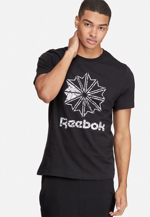 0f711707b64d5f Classic starcrest tee- black Reebok Classic T-Shirts