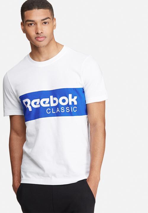 943db42360e Archive stripe tee -white blue Reebok Classic T-Shirts