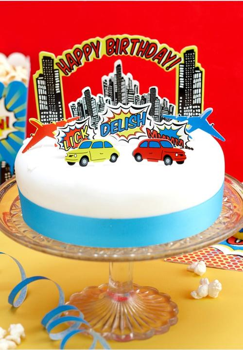 Super Pop Art Party Birthday Cake Toppers Ginger Ray Entertain Funny Birthday Cards Online Necthendildamsfinfo