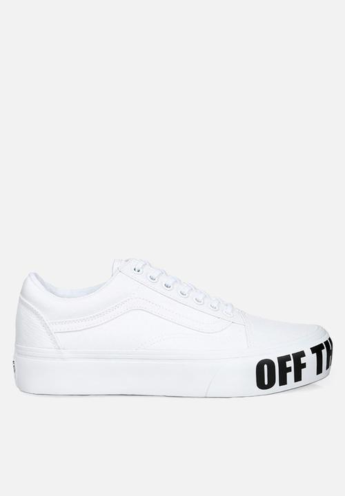 aa3a51eb7ba Vans Old Skool platform - off the wall - true white Vans Sneakers ...