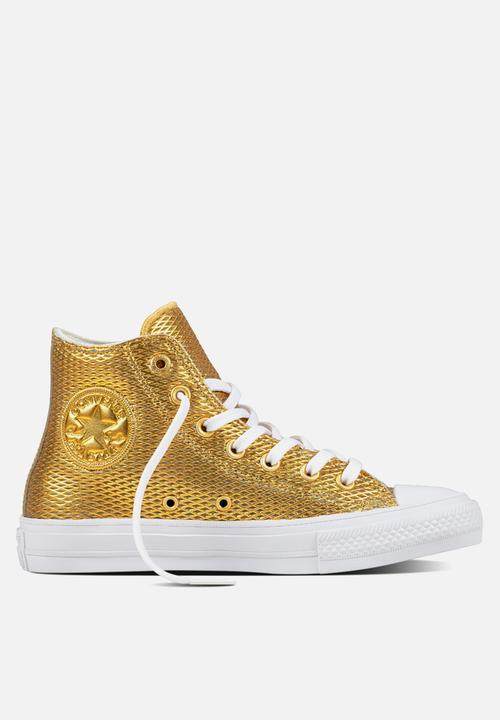 820f4771b057 Chuck Taylor All Star II Hi Perf Leather - 555796c - Gold White ...