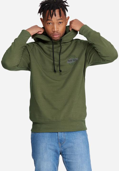 2f5f6599a Graphic pullover hoodie sweat- olive green basicthread Hoodies ...