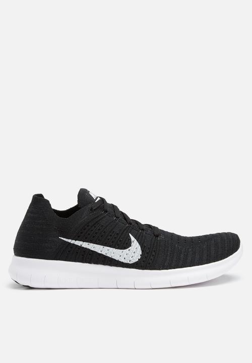 484436cef336 Nike Free RN Flyknit - 831069-001 - Black   White Nike Trainers ...