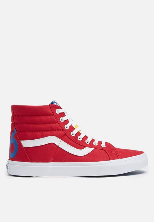 a0306cfacf Vans SK8-Hi Reissue Freshness 1966 - Red   Blue   True White Vans ...