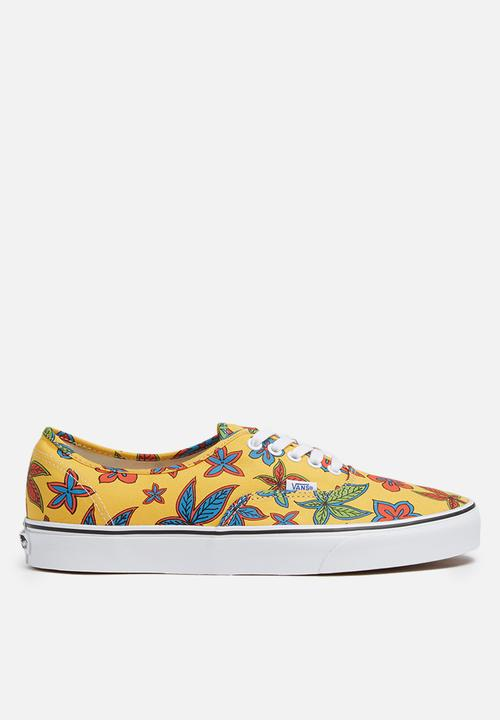 274bf692ac Vans Authentic Freshness De La Soul - Floral   Yellow Vans Sneakers ...