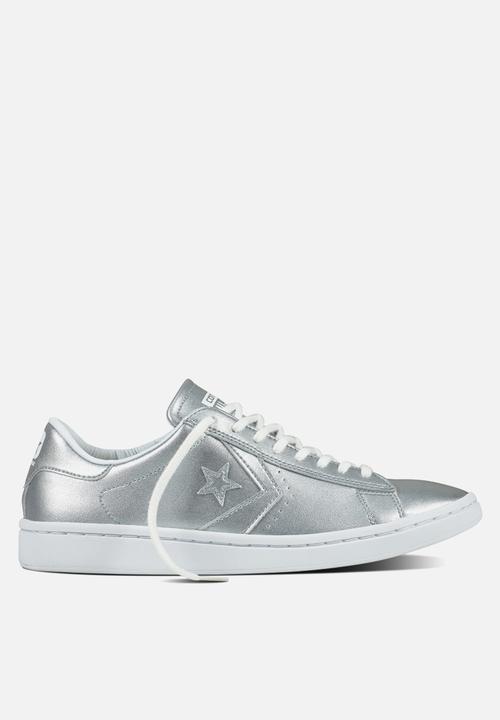 f571f96d04ba Cons SLS PL LP Metallic Leather L OX-555947C-Silver White Converse ...